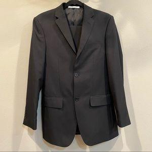 ANGELO ROSSI Men's Black 2-Piece Suit 34R